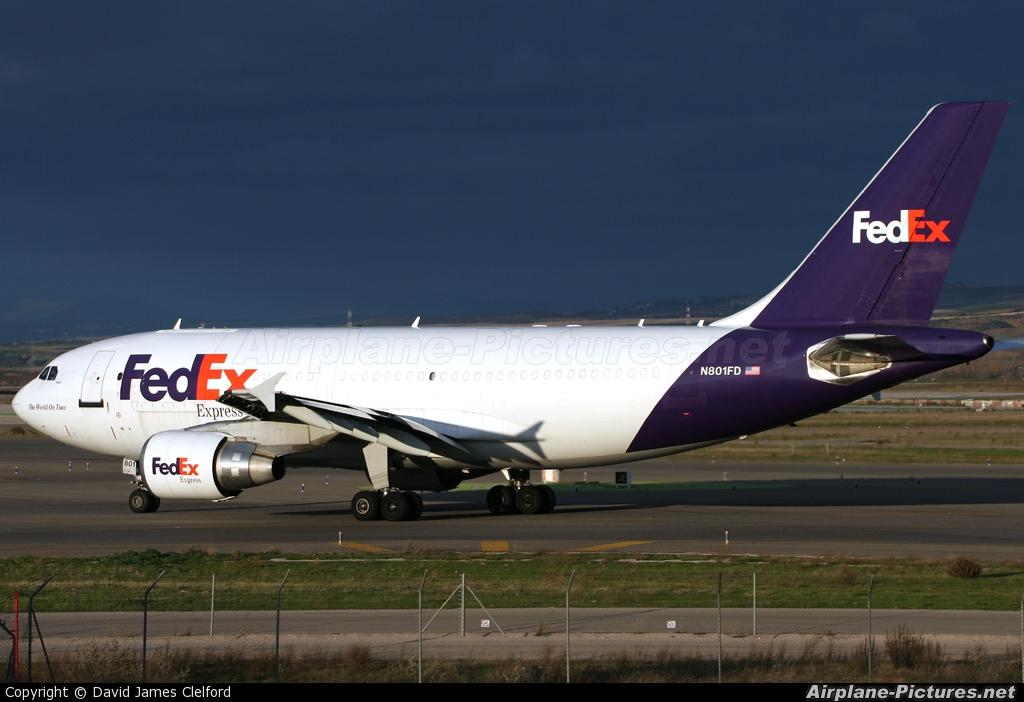 FedEx Federal Express N801FD aircraft at Madrid - Barajas