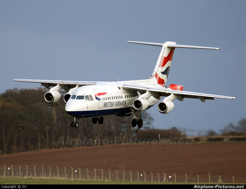 British Airways G-BZAV aircraft at Prestwick