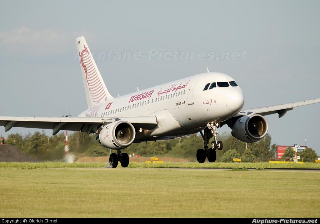 Tunisair TS-IMK aircraft at Prague - Václav Havel