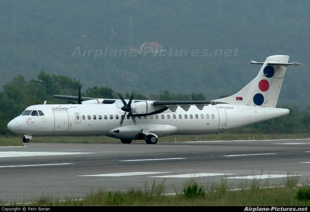 JAT Airways YU-ALO aircraft at Tivat