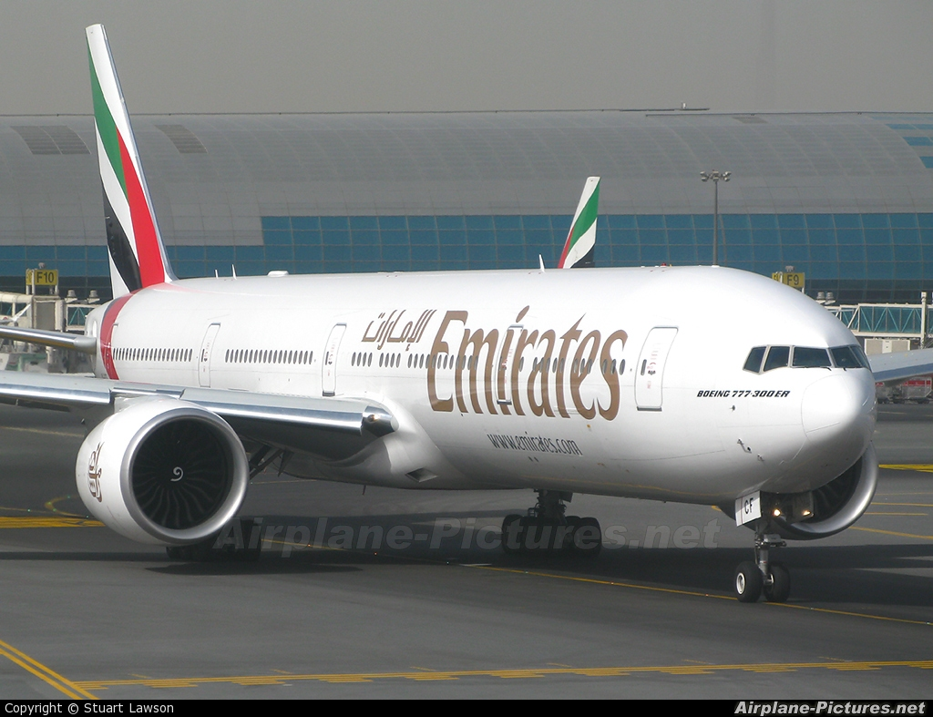 Emirates Airlines A6-ECF aircraft at Dubai Intl