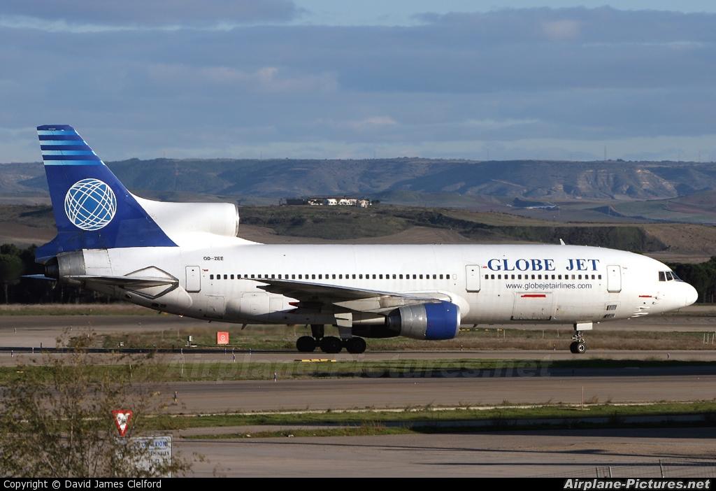 Jet Privato Globe Air : Od zee globe jet airlines lockheed l tristar at