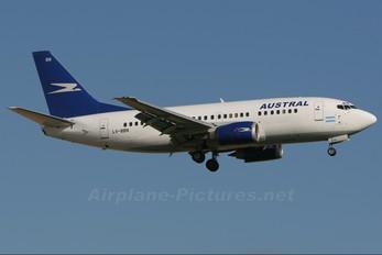 LV-BBN - Austral Lineas Aereas Boeing 737-500