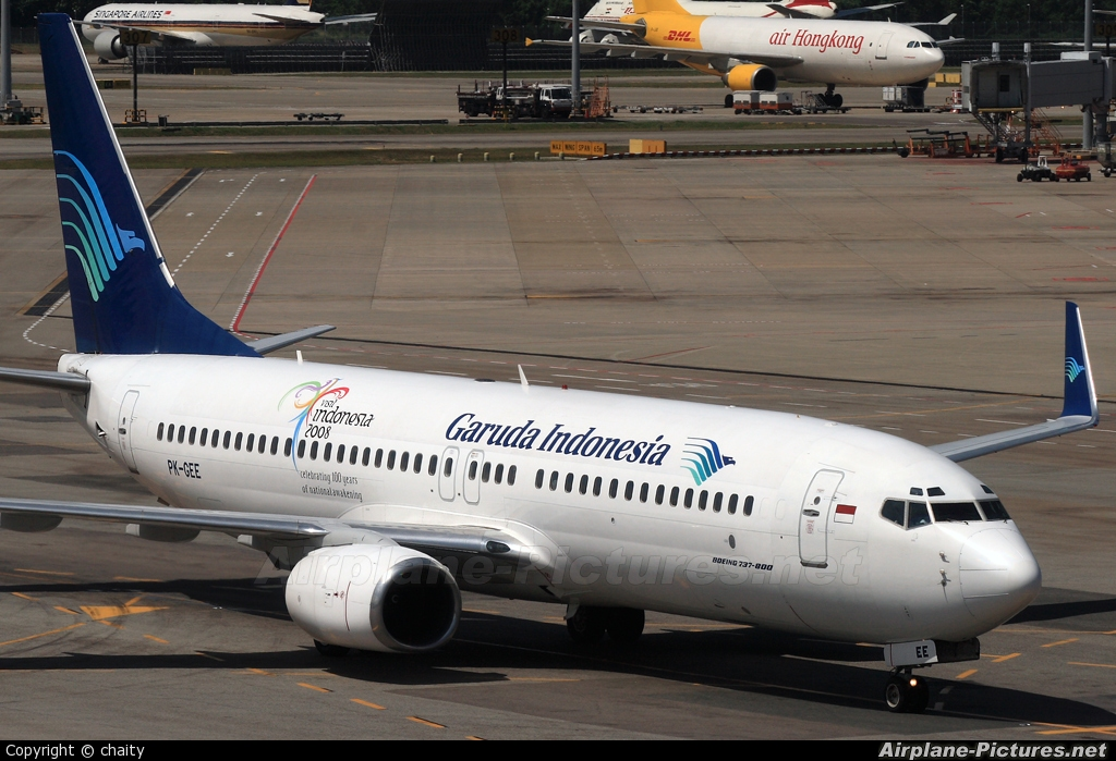 Garuda Indonesia PK-GEE aircraft at Singapore - Changi