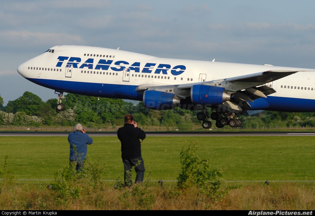 Transaero Airlines VP-BQC aircraft at Manchester