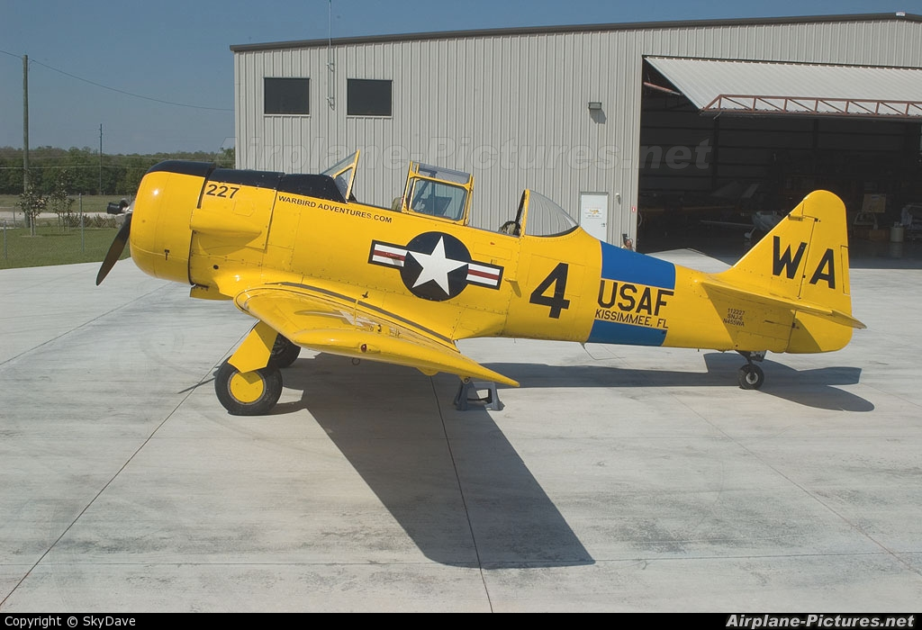 Warbird Adventures N455WA aircraft at Orlando - Kissimmee Gateway