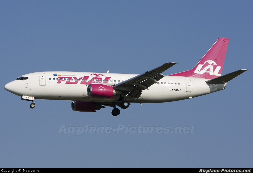 FlyLAL LY-AQX aircraft at Brussels - Zaventem