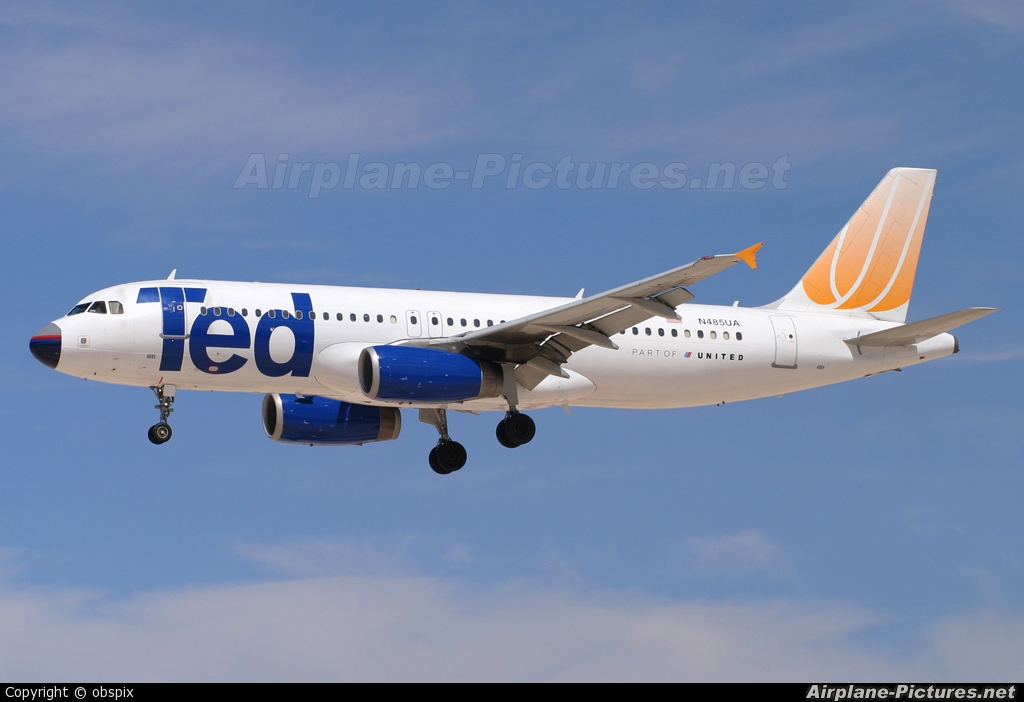 Ted N485UA aircraft at Las Vegas - McCarran Intl