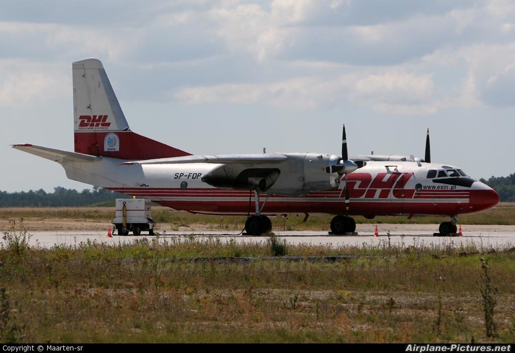 DHL Cargo SP-FDP aircraft at Bordeaux - Merignac