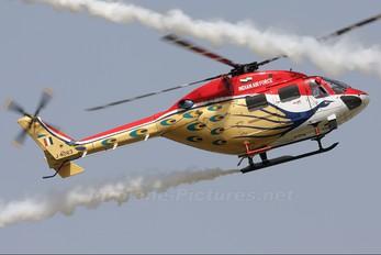 J4063 - India - Air Force: Sarang Display Team Hindustan Dhruv