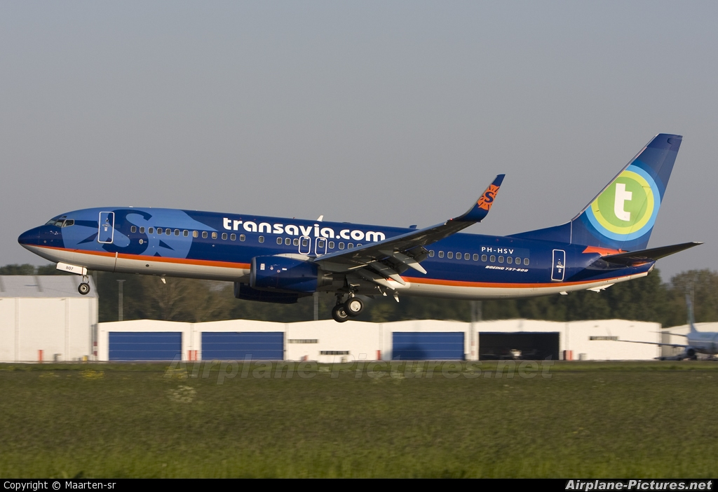 Transavia PH-HSV aircraft at Rotterdam