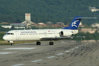 YU-AOT - Montenegro Airlines Fokker 100