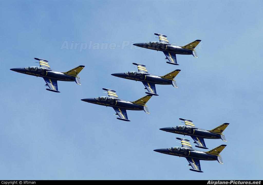 Breitling Jet Team - aircraft at Pratica di Mare