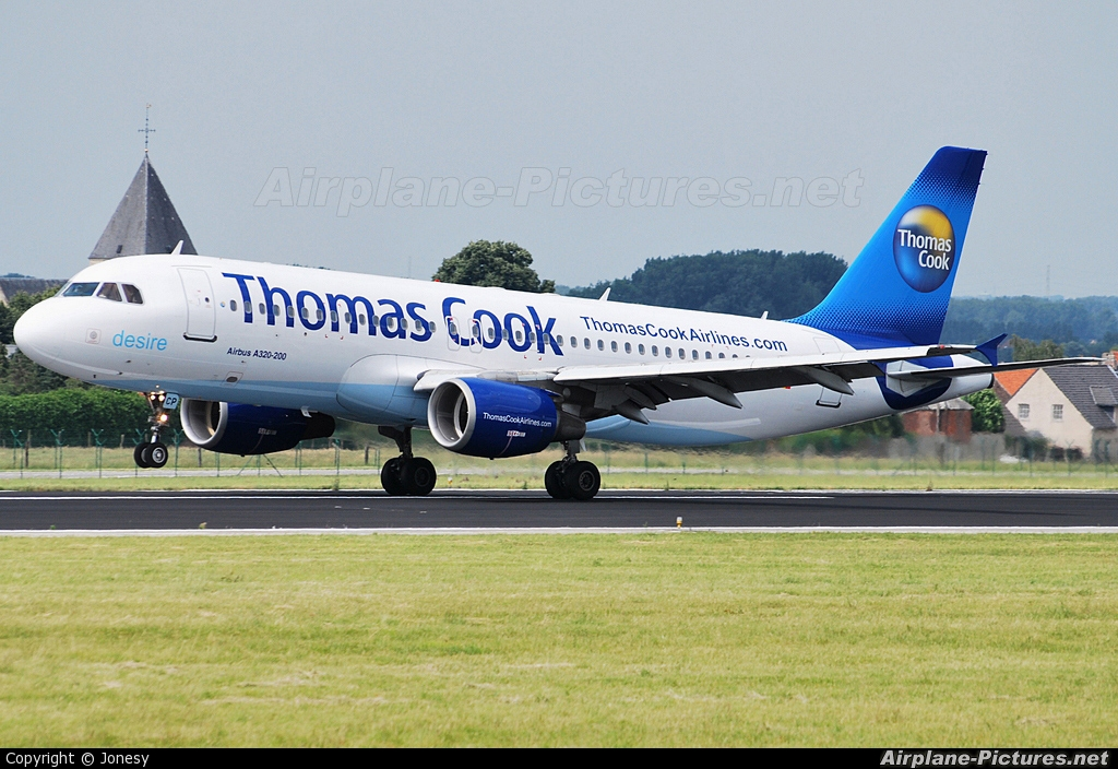 Thomas Cook Belgium OO-TCP aircraft at Brussels - Zaventem