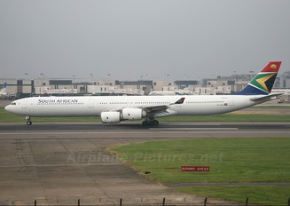 ZS-SND - South African Airways Airbus A340-600