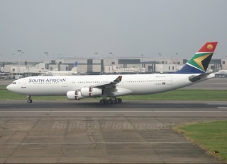 ZS-SLE - South African Airways Airbus A340-200