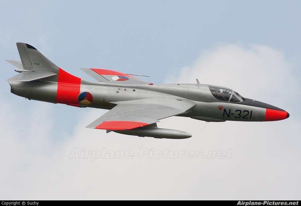 Dutch Hawker Hunter Foundation G-BWGL aircraft at Leeuwarden