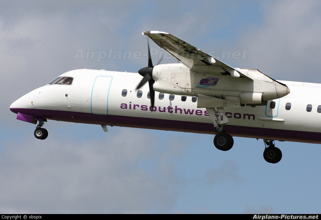 Air Southwest G-WOWB aircraft at Plymouth