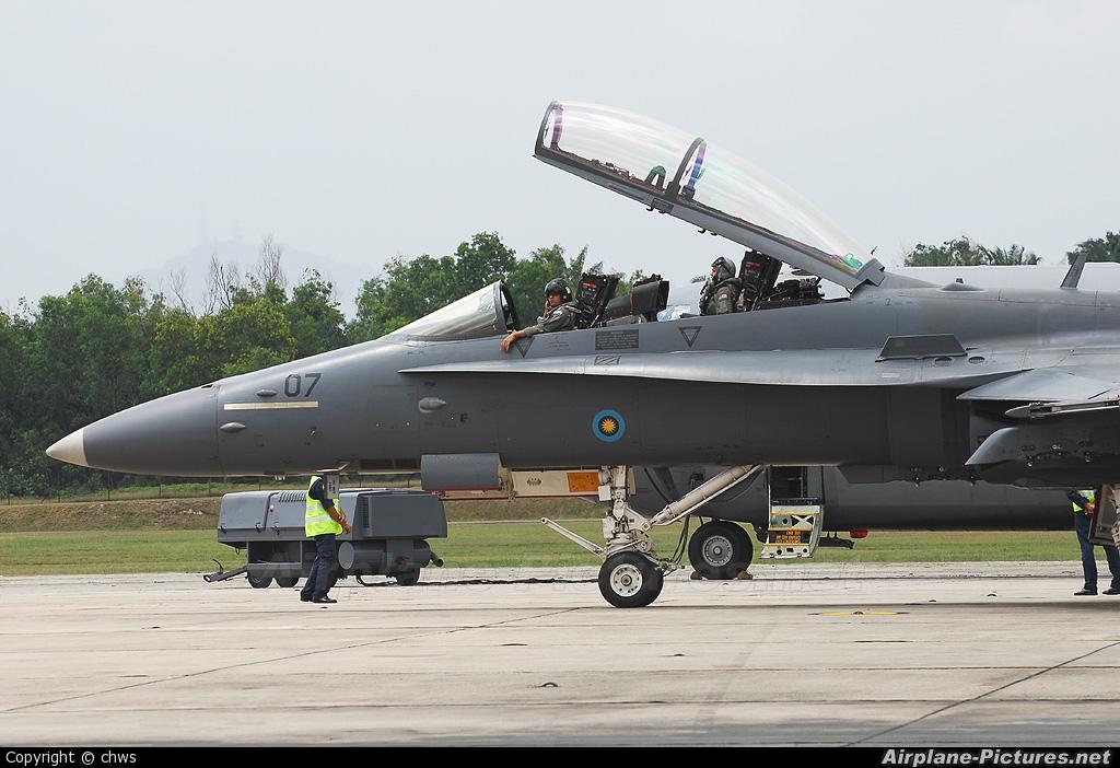 Malaysia - Air Force M45-07 aircraft at Subang - Sultan Abdul Aziz Shah