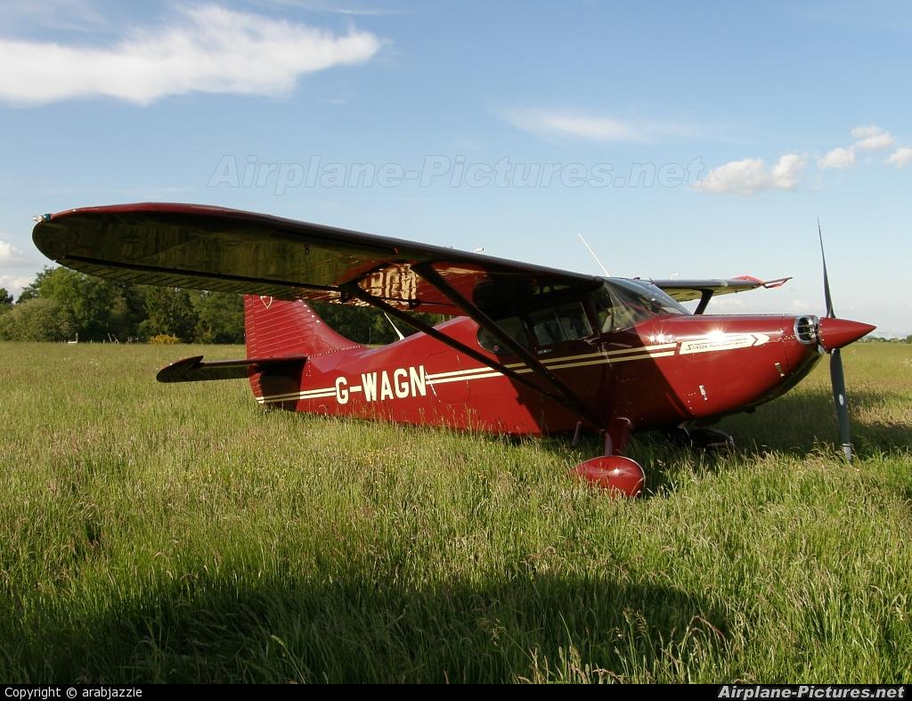 Private G-WAGN aircraft at Strathallan