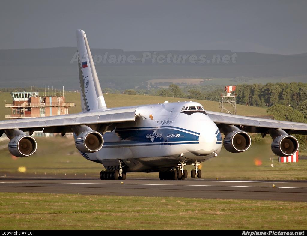 Volga Dnepr Airlines RA-82045 aircraft at Prestwick