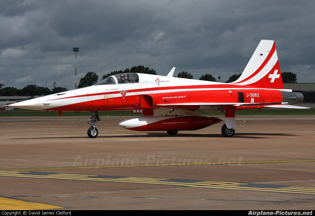 Switzerland - Air Force:  Patrouille de Suisse J-3082 aircraft at Fairford