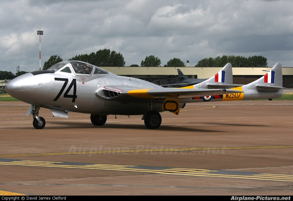 Vampire Preservation Group G-VTII aircraft at Fairford