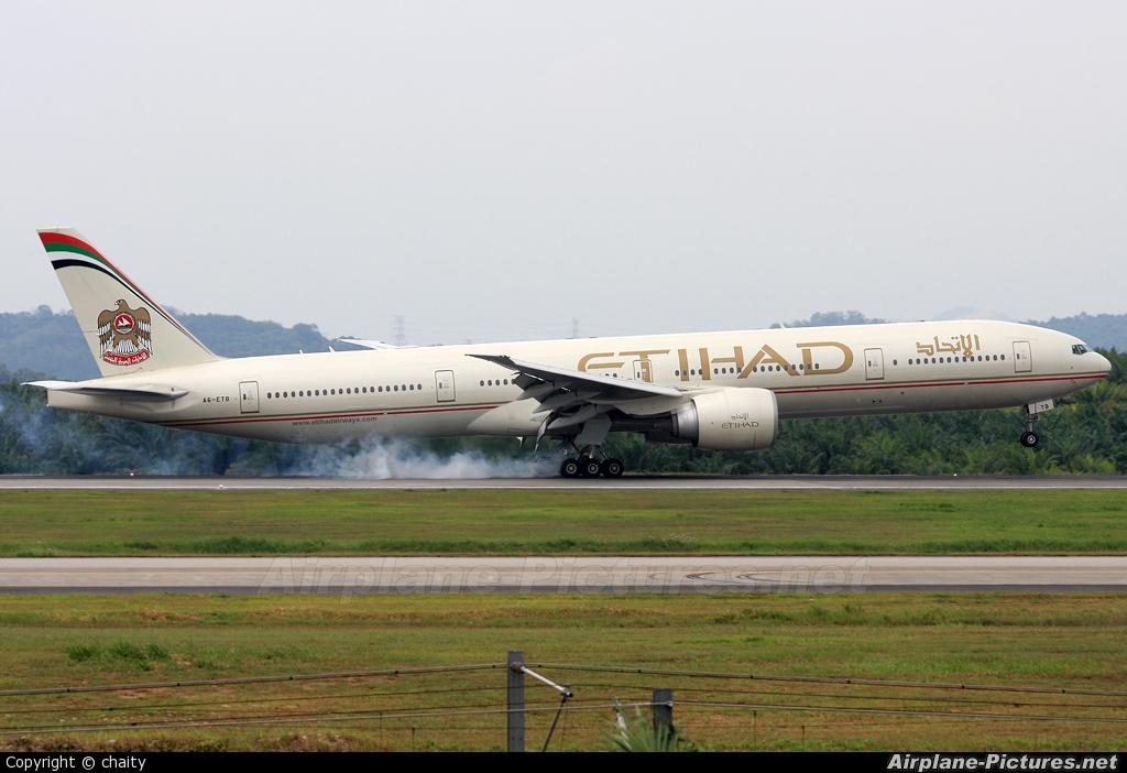 Etihad Airways A6-ETB aircraft at Kuala Lumpur Intl