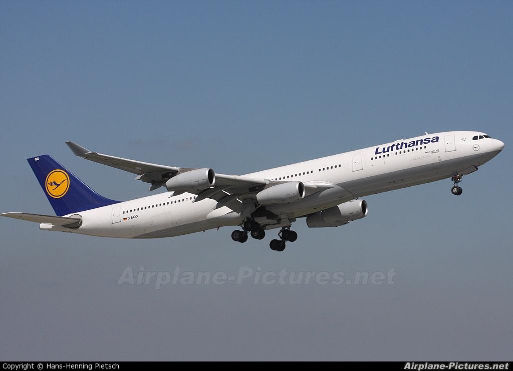 Lufthansa D-AIGO aircraft at Düsseldorf