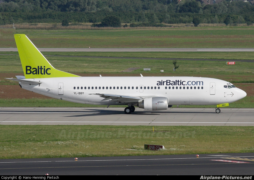 Air Baltic YL-BBY aircraft at Düsseldorf