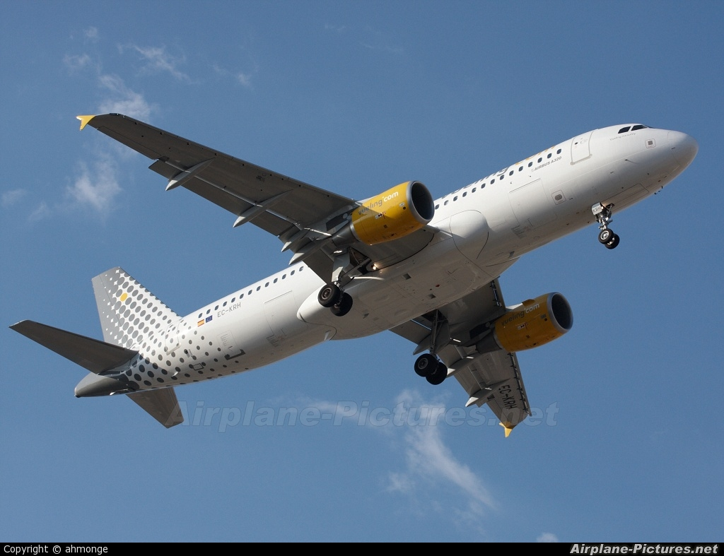 Vueling Airlines EC-KRH aircraft at Valencia