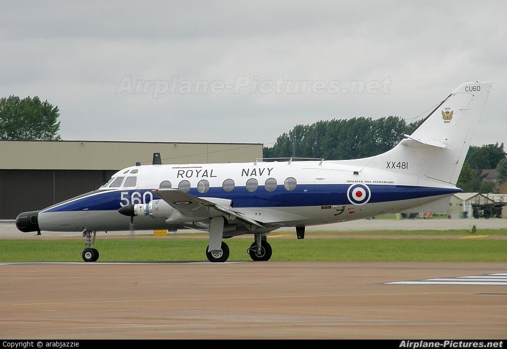 Royal Navy XX481 aircraft at Fairford