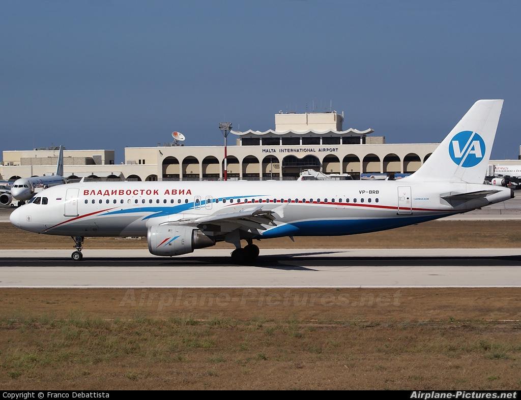 Vladivostok Avia VP-BRB aircraft at Malta Intl