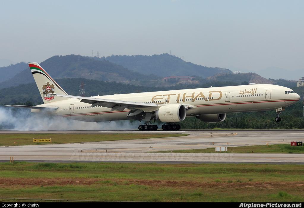 Etihad Airways A6-ETA aircraft at Kuala Lumpur Intl
