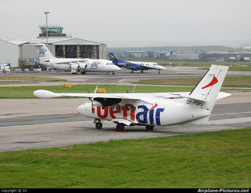 Benair OY-PBH aircraft at Aberdeen / Dyce