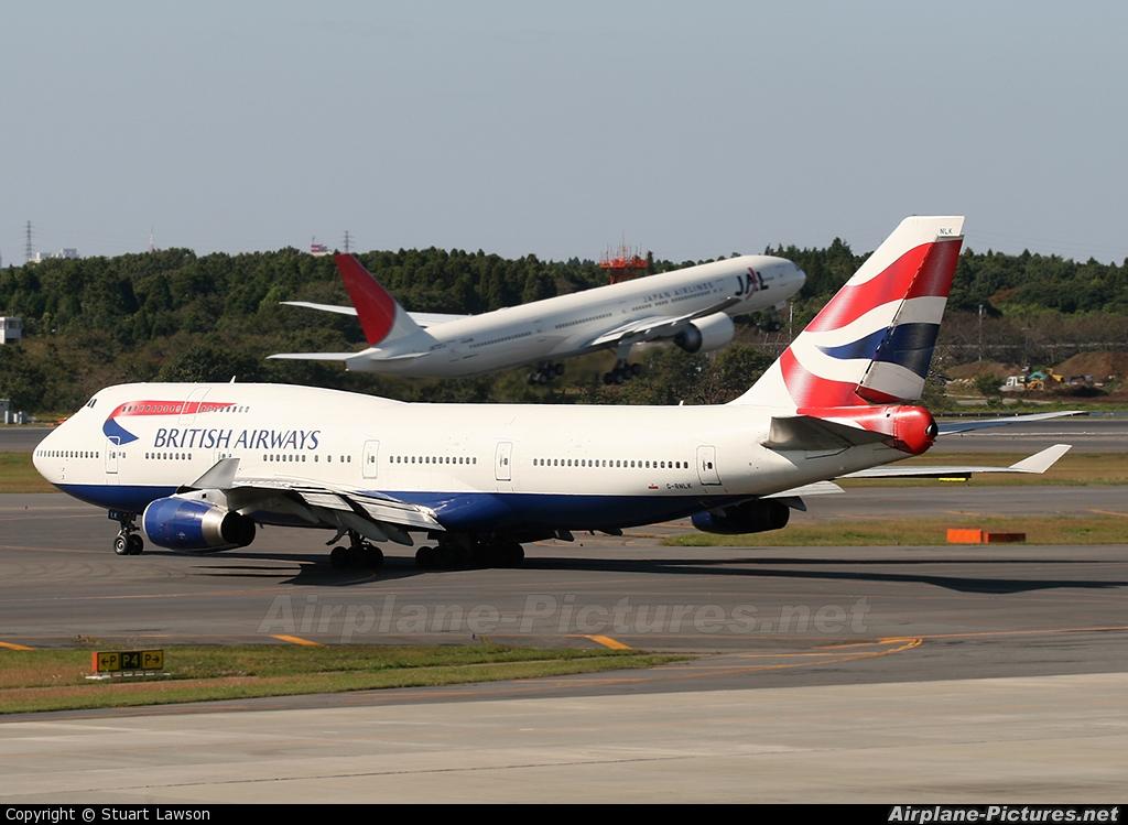 British Airways G-BNLK aircraft at Tokyo - Narita Intl
