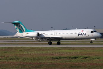 XY-AGC - Myanmar Airways International Fokker 100