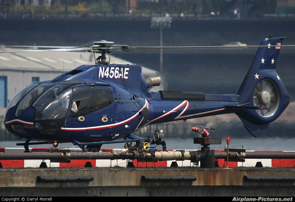 Liberty Helicopters N456AE aircraft at New York - Port Authority Downtown Manhattan / Wall Street Heliport