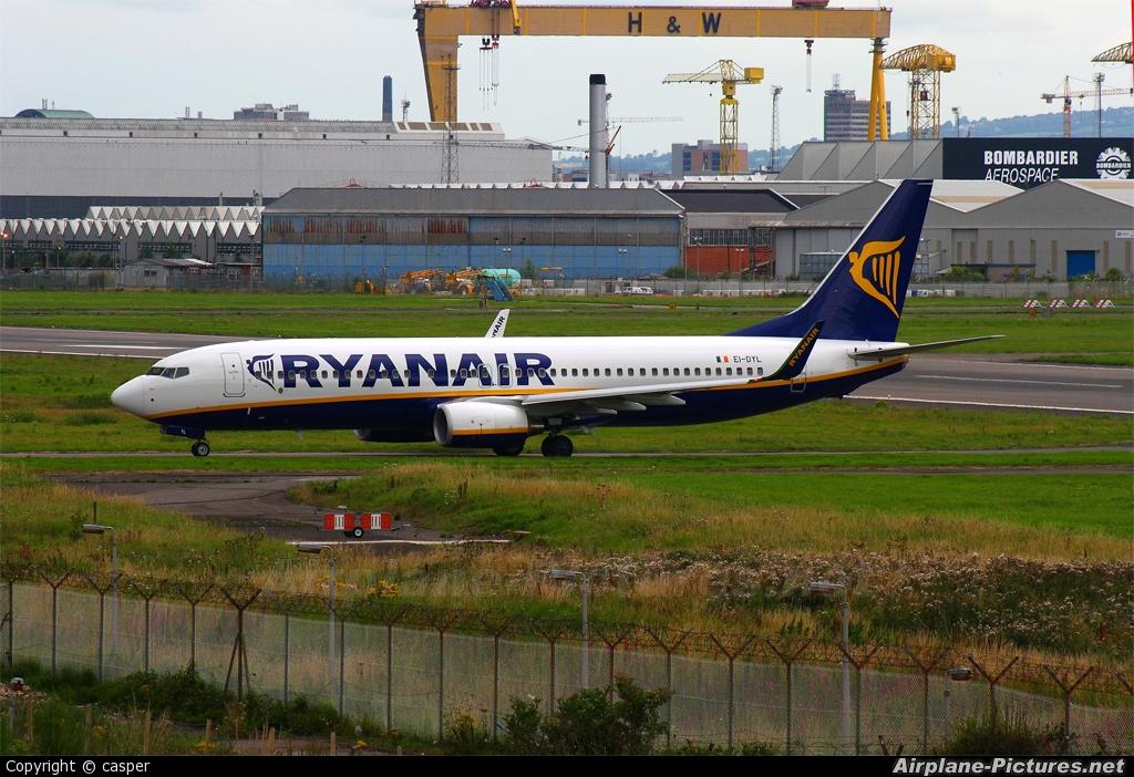 Ryanair EI-DYL aircraft at Belfast City - George Best