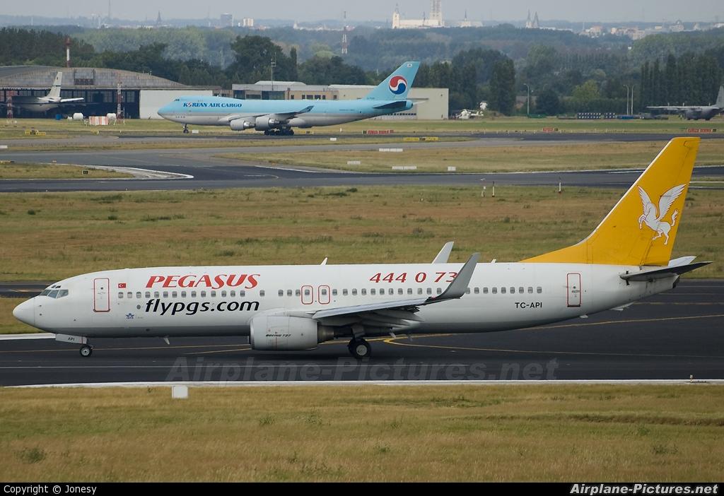 Pegasus TC-API aircraft at Brussels - Zaventem