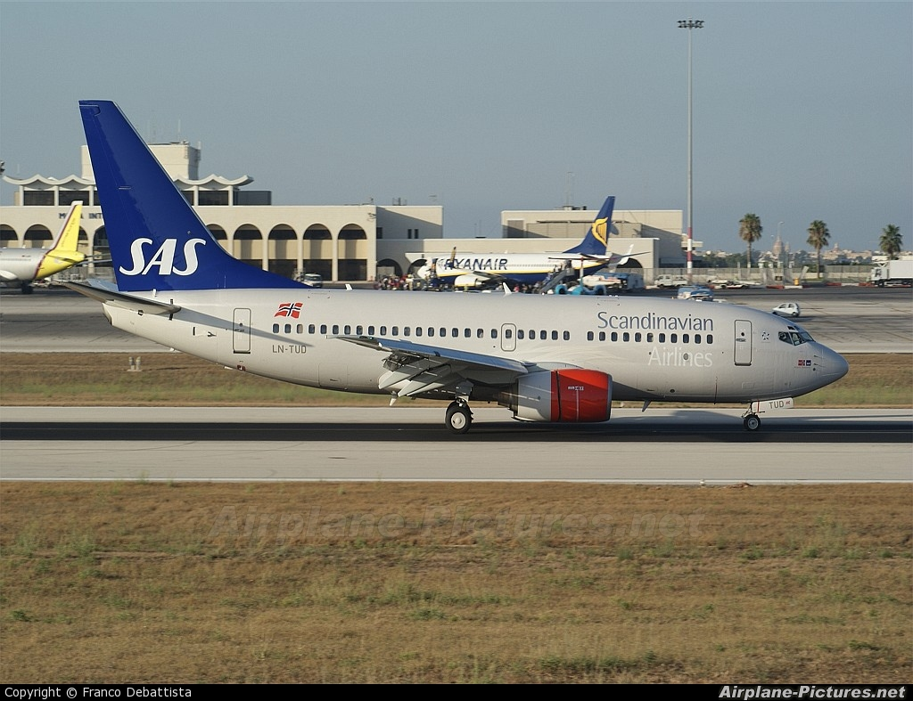 SAS - Scandinavian Airlines LN-TUD aircraft at Malta Intl