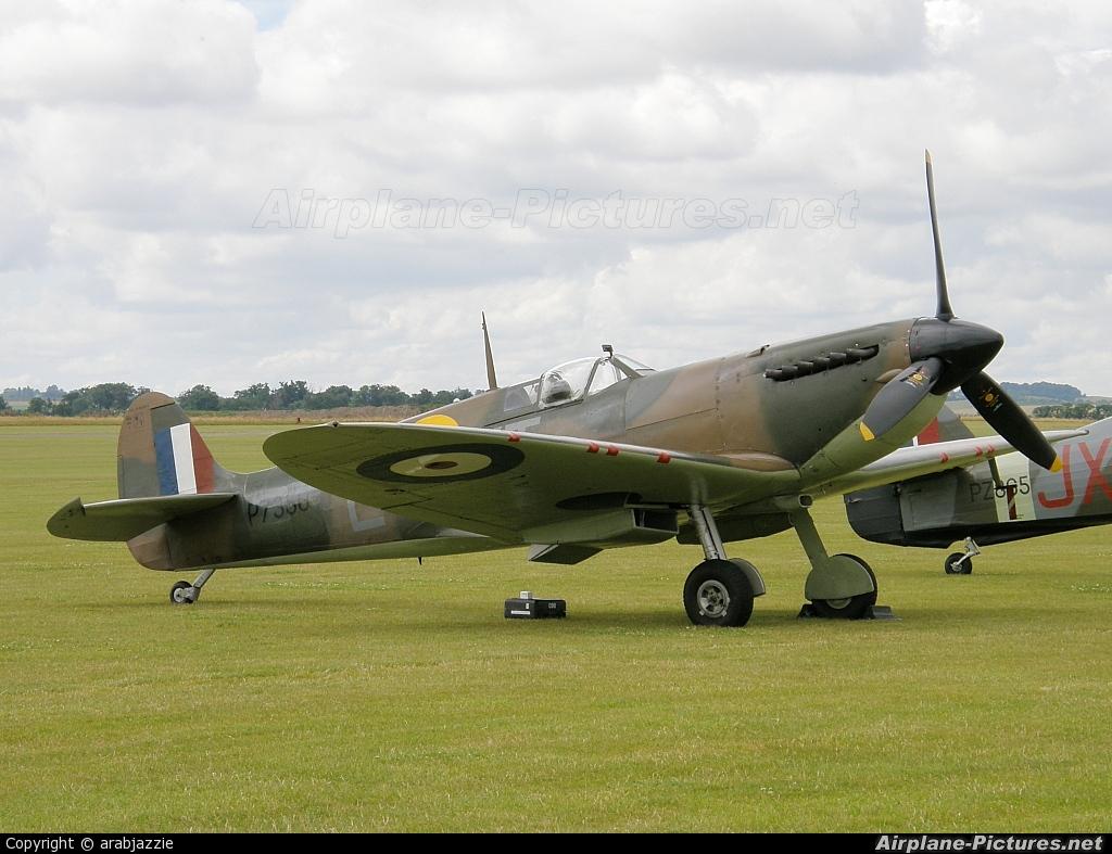 "Royal Air Force ""Battle of Britain Memorial Flight&quot P7350 aircraft at Duxford"