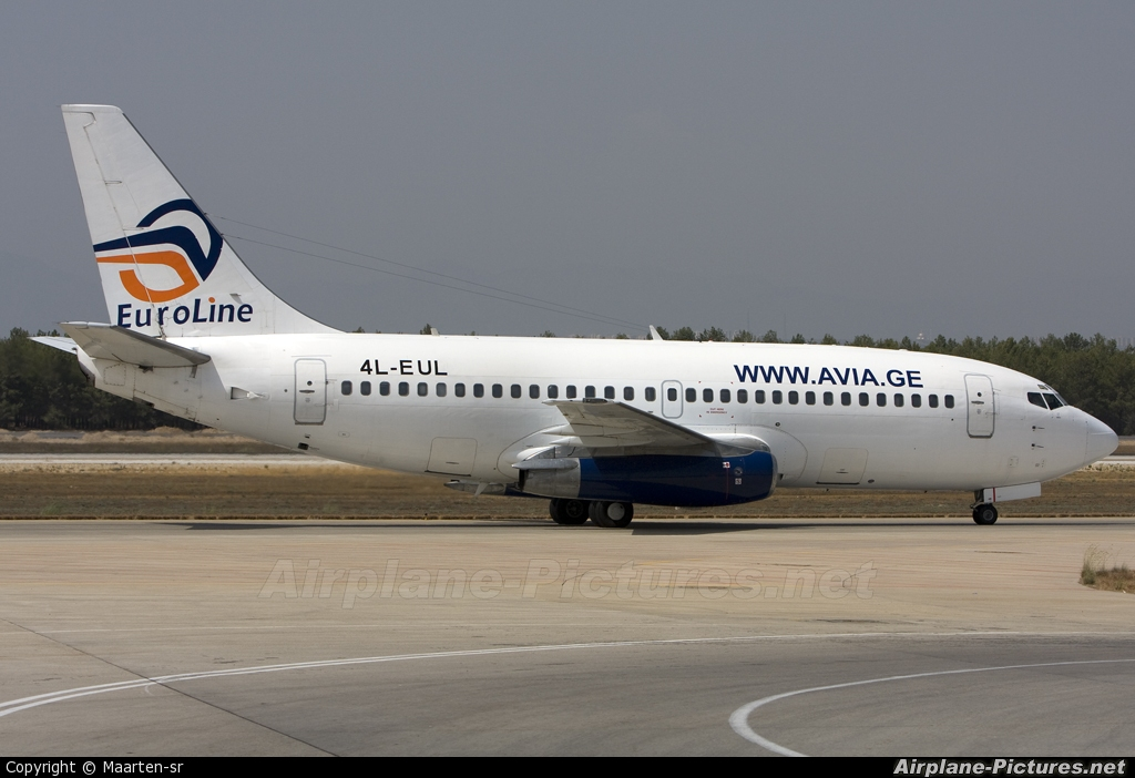Euroline 4L-EUL aircraft at Antalya