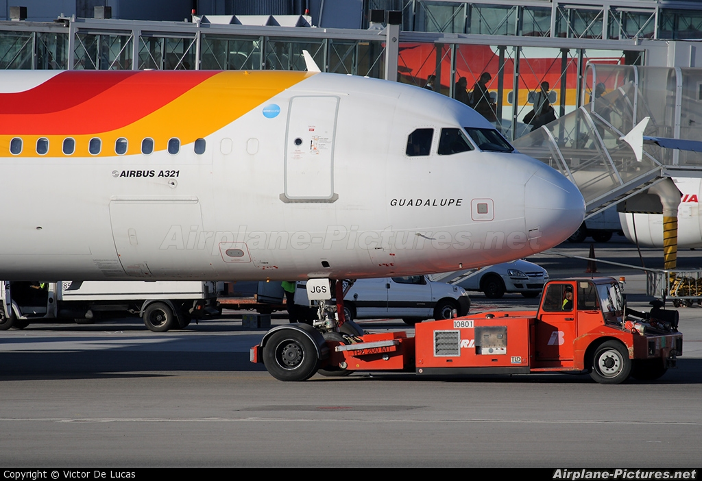 Iberia EC-JGS aircraft at Madrid - Barajas