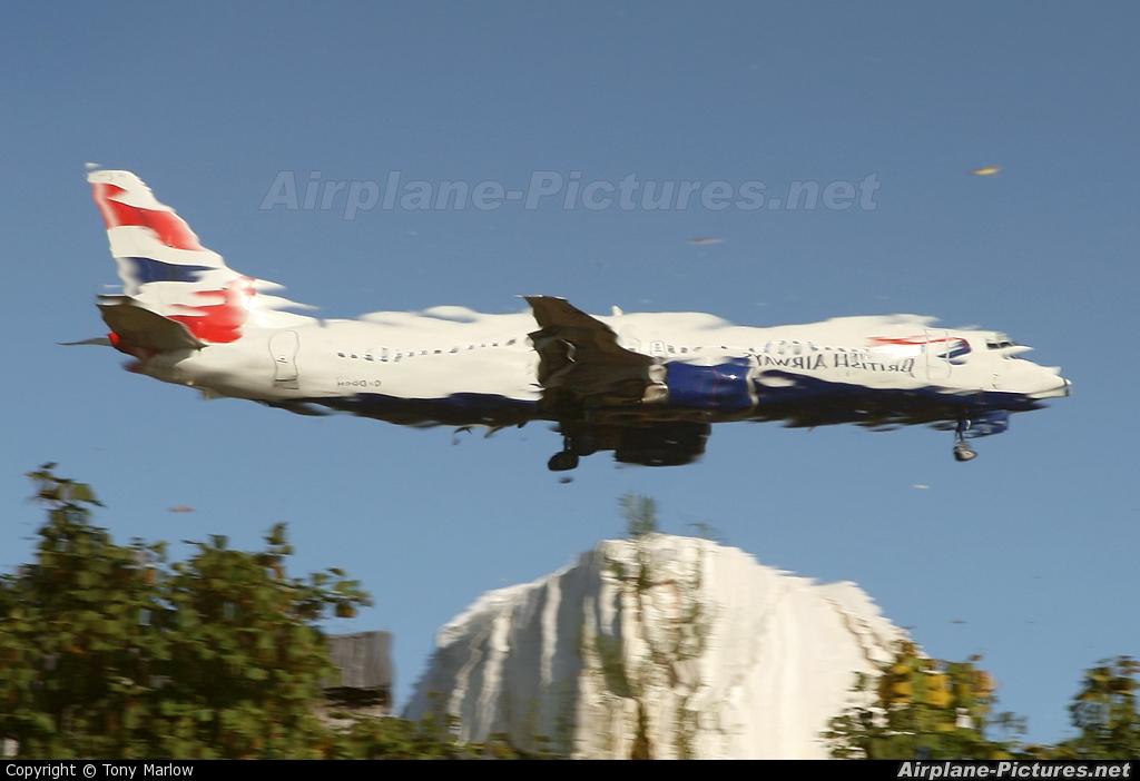British Airways G-DOCH aircraft at Glasgow