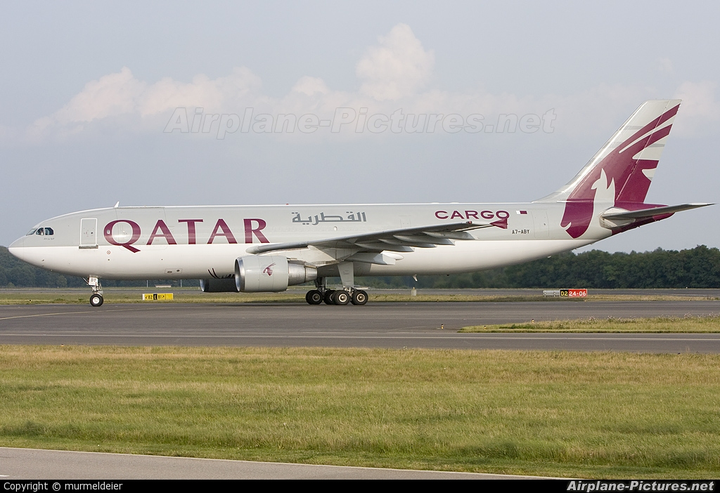 Qatar Airways Cargo A7-ABY aircraft at Luxembourg - Findel