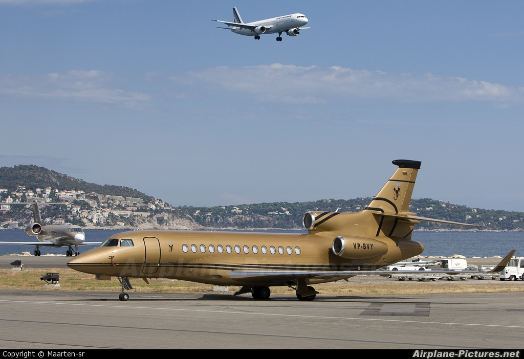 Private VP-BVY aircraft at Nice - Cote d