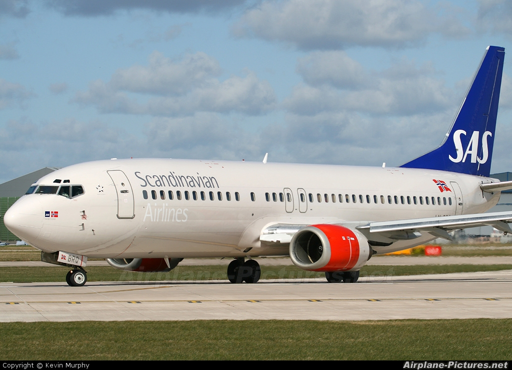 SAS - Scandinavian Airlines LN-BRQ aircraft at Manchester