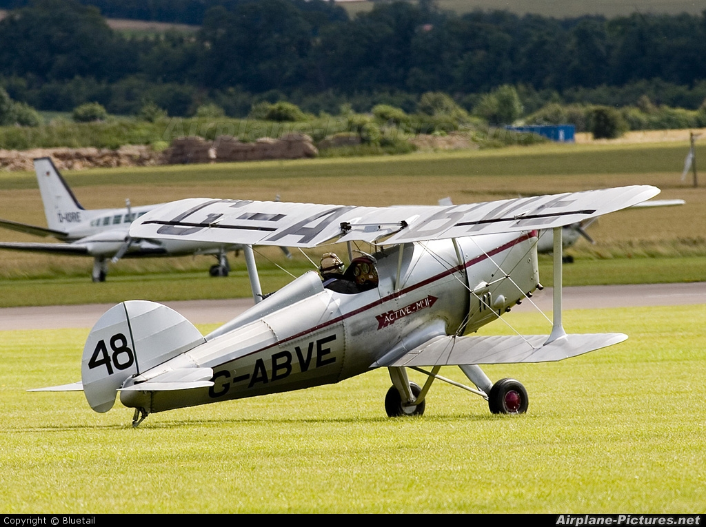 Private G-ABVE aircraft at Duxford