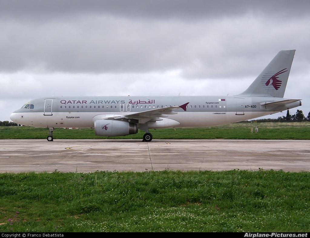 Qatar Airways A7-ADD aircraft at Malta Intl